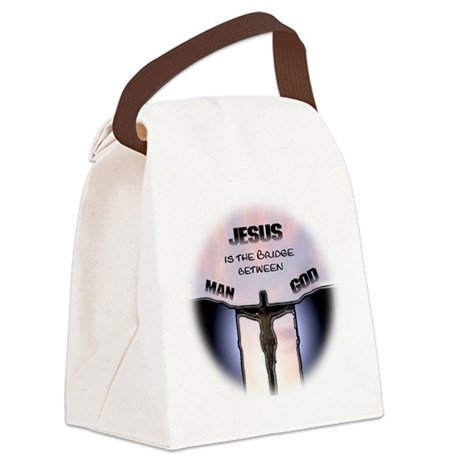 jesusbridgerndwht.JPG Canvas Lunch Bag