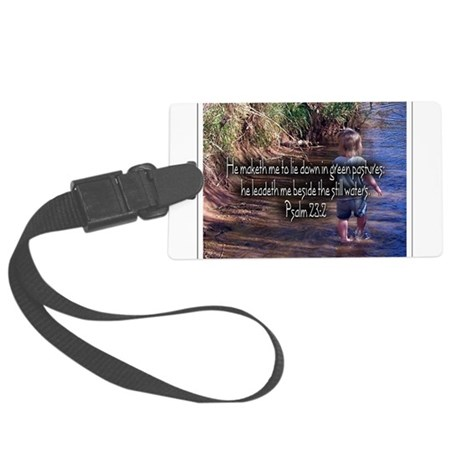 Wading Psalms 23:2 Large Luggage Tag
