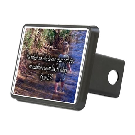Wading Psalms 23:2 Rectangular Hitch Cover