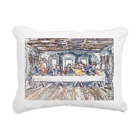 lastsupperpencil2.jpg Rectangular Canvas Pillow