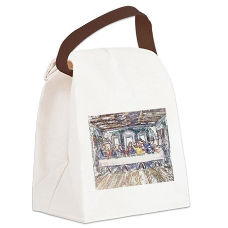 lastsupperpencil2.jpg Canvas Lunch Bag