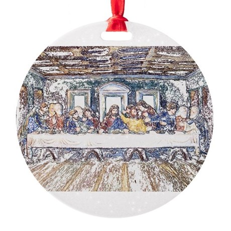 lastsupperpencil2.jpg Round Ornament