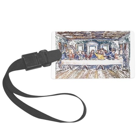 lastsupperpencil2.jpg Large Luggage Tag