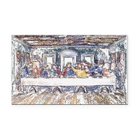 lastsupperpencil2.jpg Rectangle Car Magnet