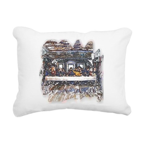 Last Supper Rectangular Canvas Pillow