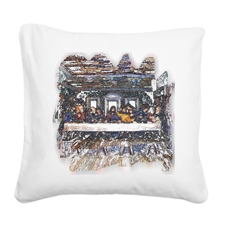 Last Supper Square Canvas Pillow