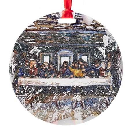 Last Supper Round Ornament