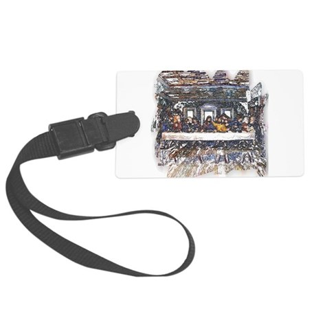 Last Supper Large Luggage Tag
