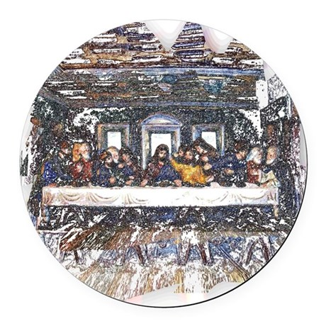 Last Supper Round Car Magnet