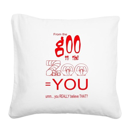 goozoo4.png Square Canvas Pillow
