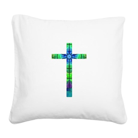 Cross 013 Square Canvas Pillow