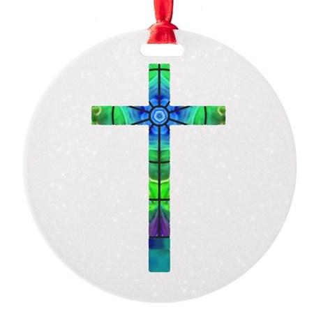 Cross 013 Round Ornament