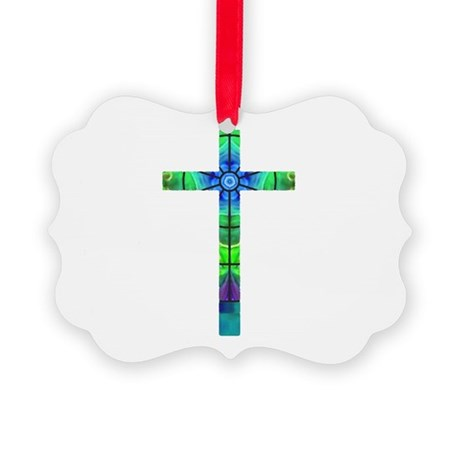 Cross 013 Picture Ornament