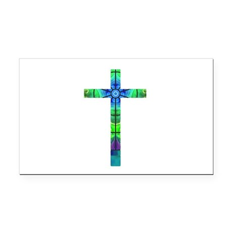 Cross 013 Rectangle Car Magnet