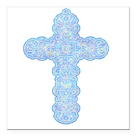 "cross28b.png Square Car Magnet 3"" x 3"""