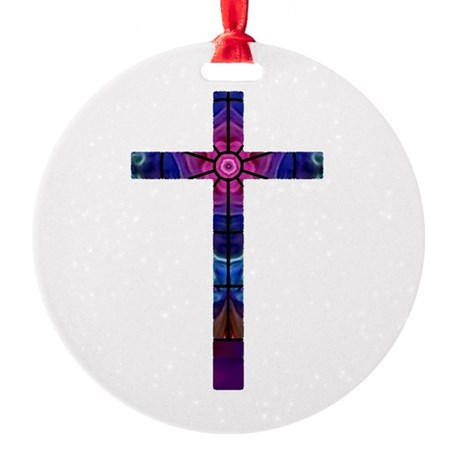 Cross 012 Round Ornament