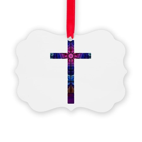 Cross 012 Picture Ornament
