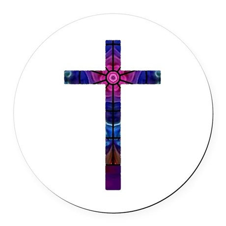 Cross 012 Round Car Magnet