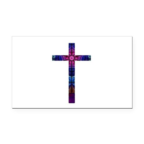 Cross 012 Rectangle Car Magnet