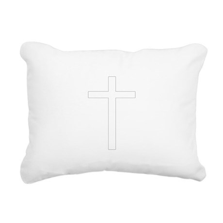 Cross Rectangular Canvas Pillow