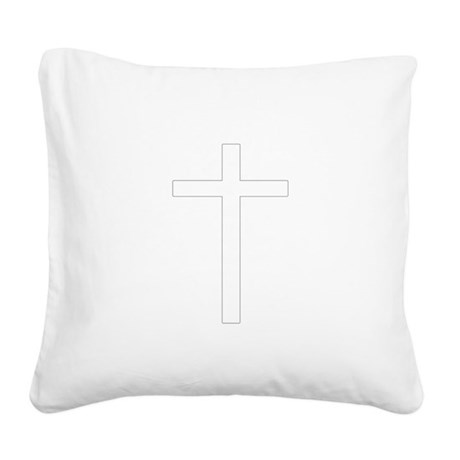 Cross Square Canvas Pillow
