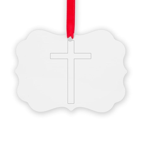 Cross Picture Ornament