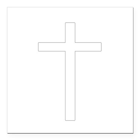 "Cross Square Car Magnet 3"" x 3"""