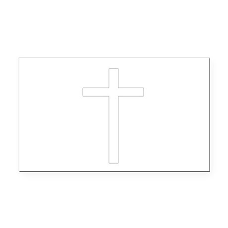 Cross Rectangle Car Magnet