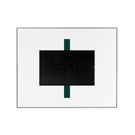Blue Green Cross Picture Frame