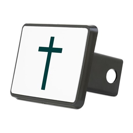 Blue Green Cross Rectangular Hitch Cover