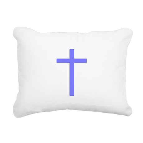 Lilac Cross Rectangular Canvas Pillow