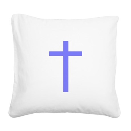 Lilac Cross Square Canvas Pillow