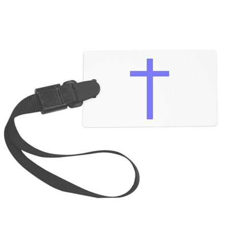 Lilac Cross Large Luggage Tag