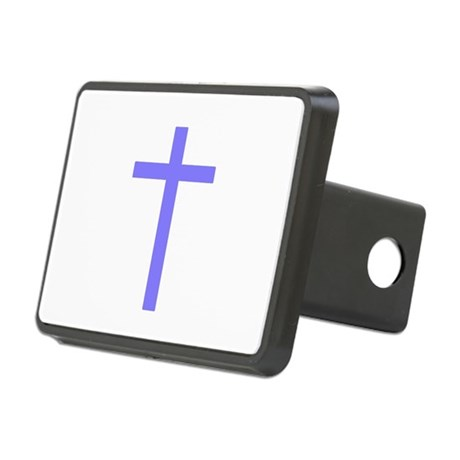 Lilac Cross Rectangular Hitch Cover