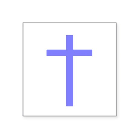 "Lilac Cross Square Sticker 3"" x 3"""