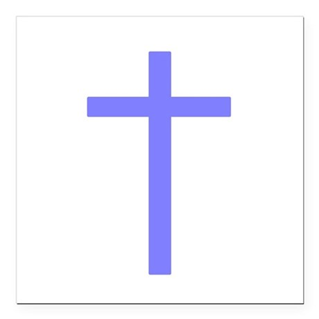 "Lilac Cross Square Car Magnet 3"" x 3"""