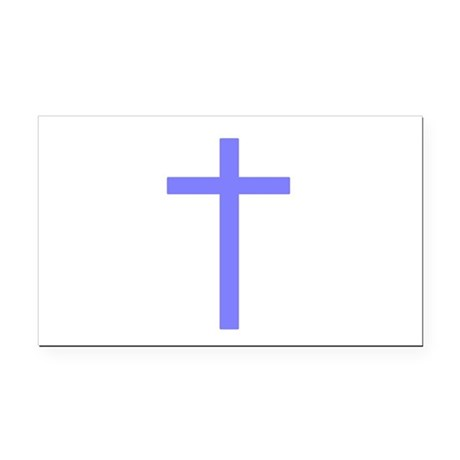 Lilac Cross Rectangle Car Magnet