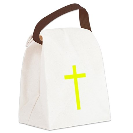 Yellow Cross Canvas Lunch Bag
