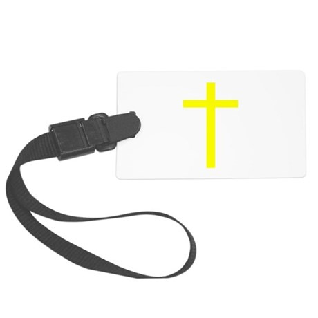 Yellow Cross Large Luggage Tag