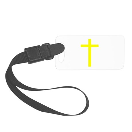Yellow Cross Small Luggage Tag