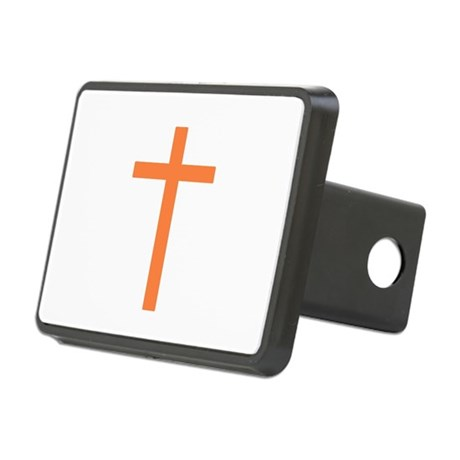 Orange Cross Rectangular Hitch Cover