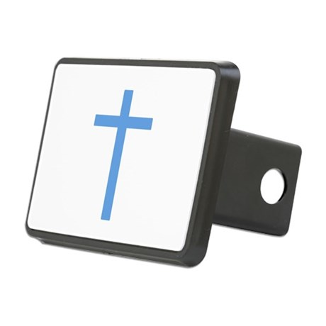 Light Blue Cross Rectangular Hitch Cover