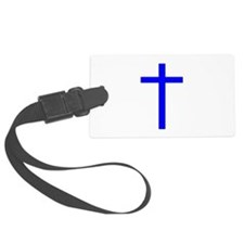 Bright Blue Cross Luggage Tag