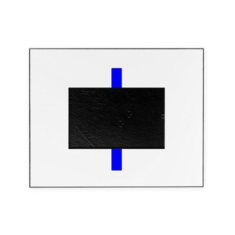 Bright Blue Cross Picture Frame