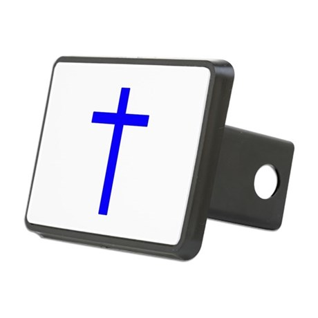 Bright Blue Cross Rectangular Hitch Cover
