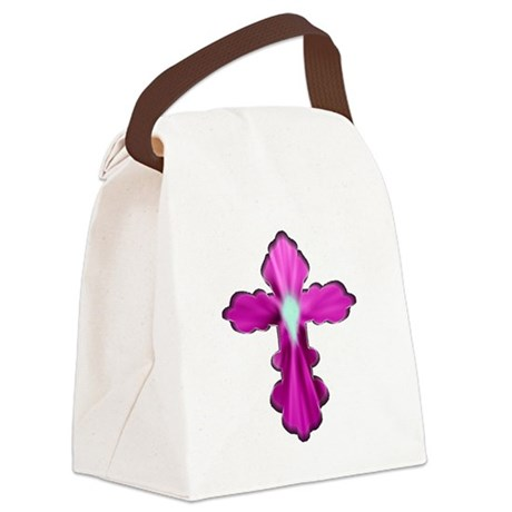 cross33b2.png Canvas Lunch Bag