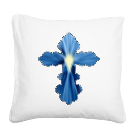 cross33a.png Square Canvas Pillow
