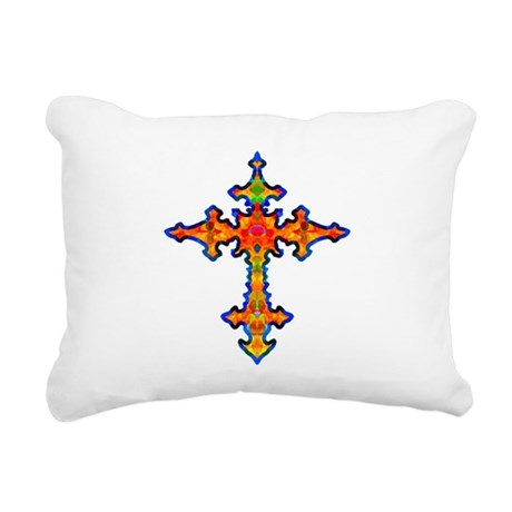 cross25f.png Rectangular Canvas Pillow