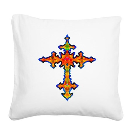 cross25f.png Square Canvas Pillow