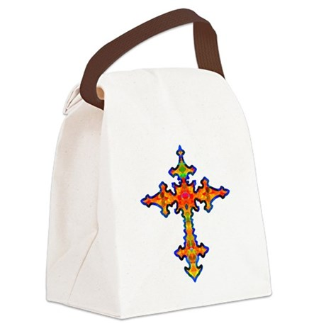 cross25f.png Canvas Lunch Bag